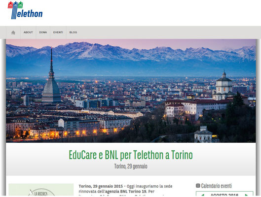 Sito web Telethon