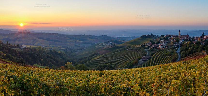 4 - Treiso e le colline delle Langhe al tramonto