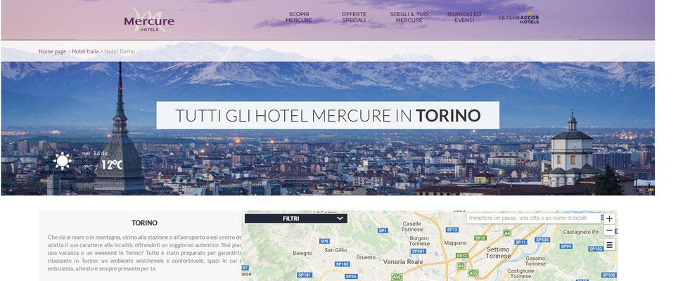 Copertina pagina web Torino di Mercure Hotel