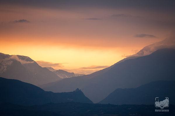 02 - Tramonto verso la Val di Susa