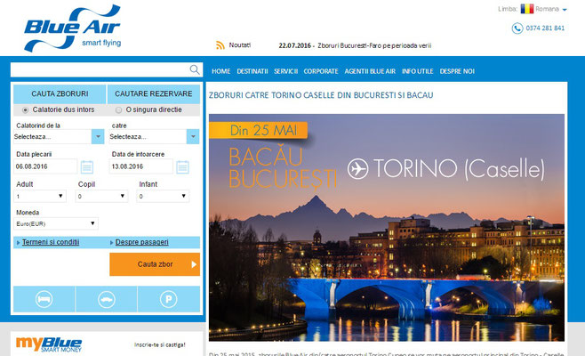 Sito web Blue Air