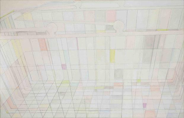 Depot I Monotypie, Mischtechnik auf Leinwand, 81 x 125 cm, 2015