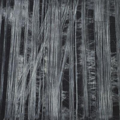 o. T. Monotypie auf Leinwand, 140 x 140 cm 2014