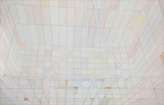 Depot II Monotypie, Mischtechnik auf Leinwand, 81 x 125 cm, 2015