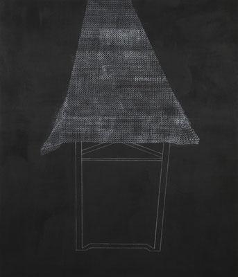 o.T. (Verstrickung)IV Monotypie auf Leinwand, 140 x 120 cm, 2013