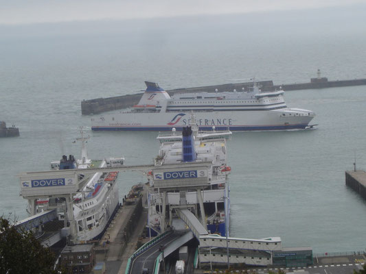 Seafrance Molière, Pride of Calais & Dunkerque Seaways (©lebateaublog2011)