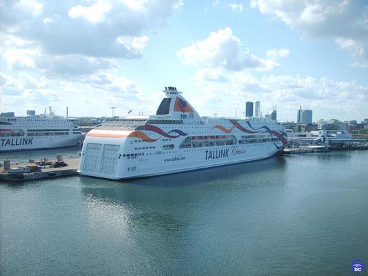 Baltic Queen à l'ancien poste de Silja Europa (© lebateaublog DC 2014)