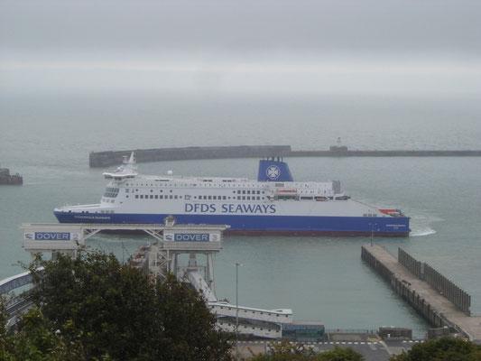 Dunkerque Seaways à Douvres. (© lebateaublog 2011)