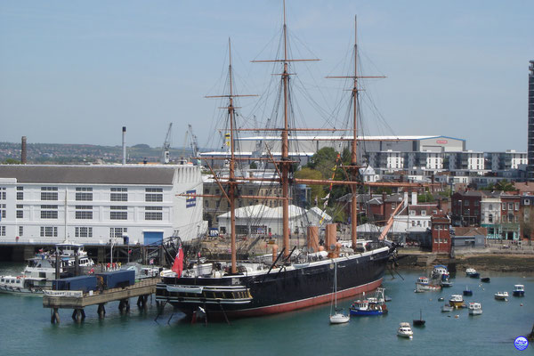 HMS Warrior. Le premier voilier à vapeur en acier de 1860.