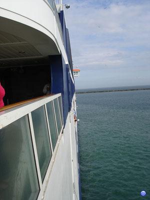 Aileron tribord du Spirit of France. (© lebateaublog 2012)