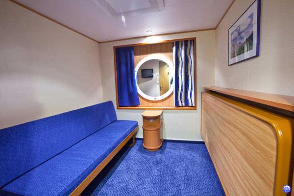 Baltic Queen - Cabine bleue intérieure(© lebateaublog-DC)