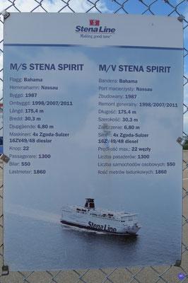 """Stena """"Germanica"""" Spirit a été achevé en 1988 et non pas en 1987."""