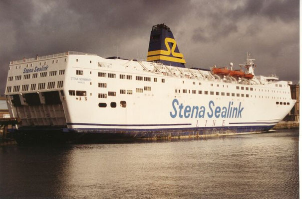 Stena Normandy (1992-1996/Stena Sealink Line/Cherbourg(F)-Southampton(UK))