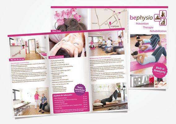 Kunde bephysio – Relaunch Flyer