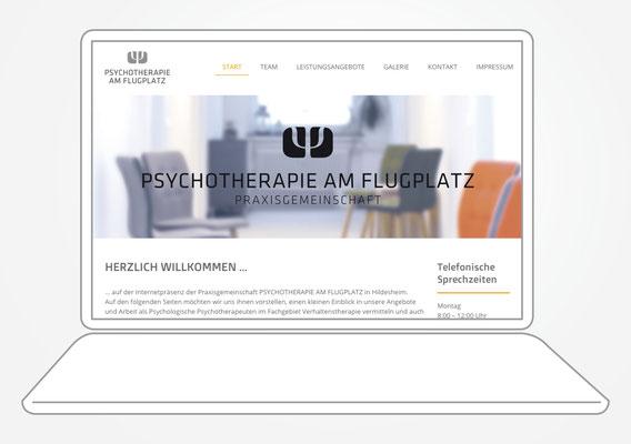 Kunde Psychotherapie am Flugplatz – Internetauftritt