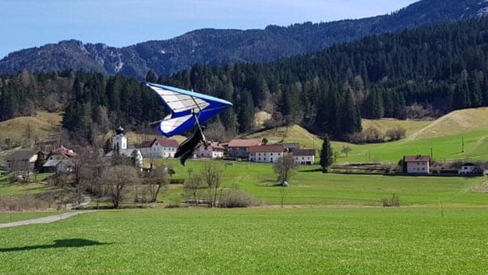 Helmut beim Endandflug.