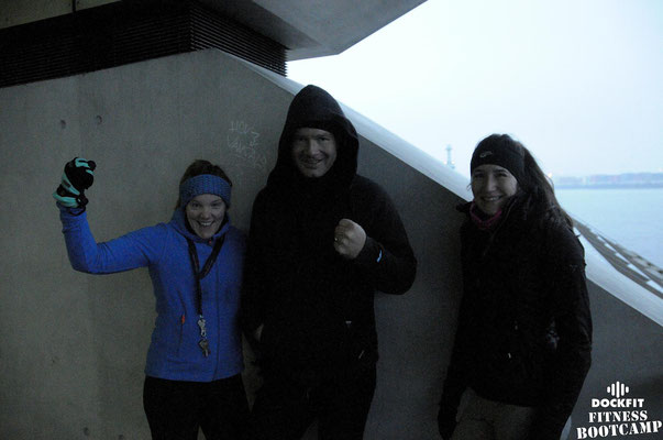 dockfit altona fitness bootcamp hamburg Training im Schnee