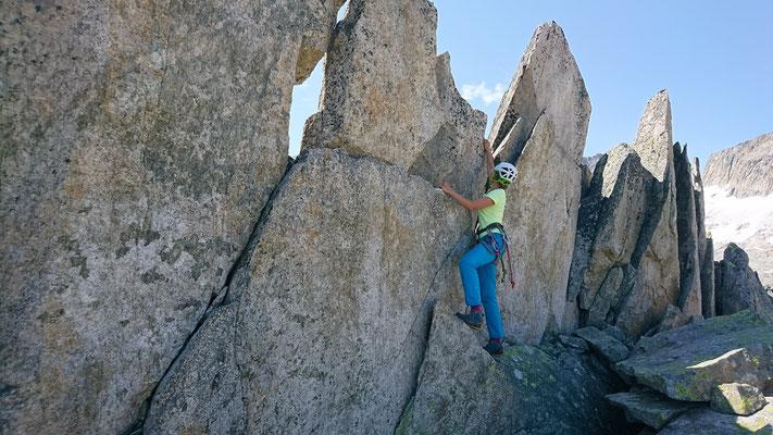 Bouldern an den Gipfelzacken des Chlynen Diamantstocks