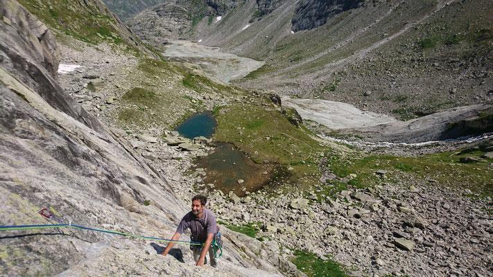 Klettern an der Bächlitalhütte