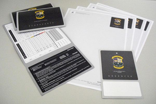 Briefpapier, Scorekarten für Golfclubs