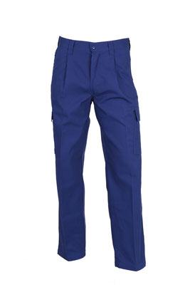 Pantalon de travail Polycoton 2 plis, 2 poches plaquées cuisse, 2 poches revolver