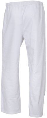Fabrication d'un pantalon mixte blanc médical