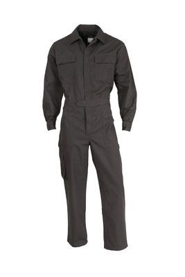 Combinaison de travail Coton/polyester 1 fermeture, ceinturon, 2 poches plaquées poitrine