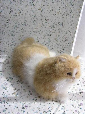 羊毛フェルト猫 ペルシャ