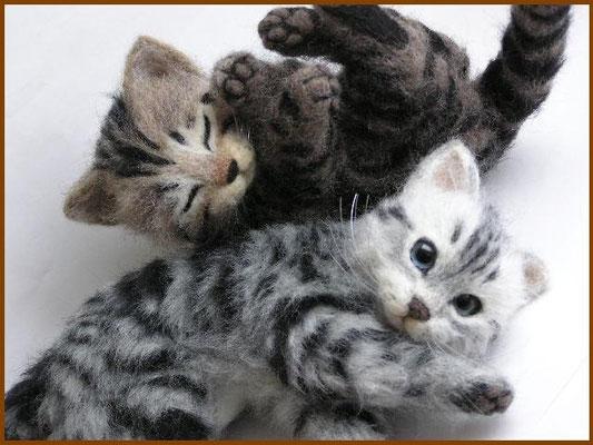 羊毛フェルト猫 アメリカンショートヘアー