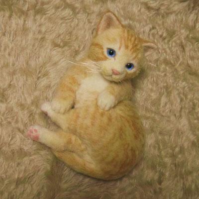 オーダーメイド 羊毛フェルト猫 ナナちゃん