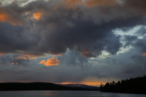 Abendstimmung am Burusjön bei Idre 5822