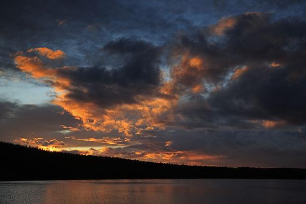 Abendstimmung am Burusjön bei Idre 5824