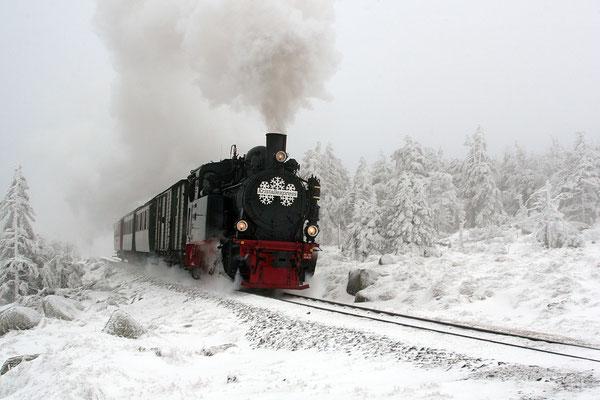 Harz, Brockenbahn  im Winter 00930