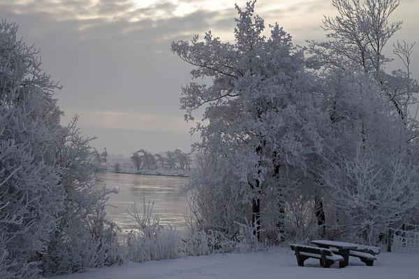 Winterabend an der Eider bei Bargen 0118