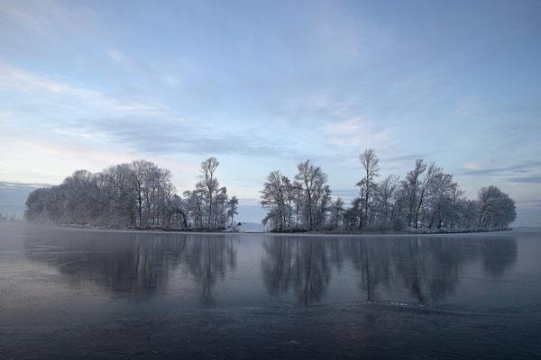 Winterabend an der Eider bei Bargen 0112