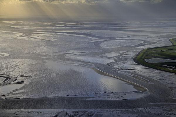 Wattenmeer bei Ebbe vor Insel Pellworm 1251