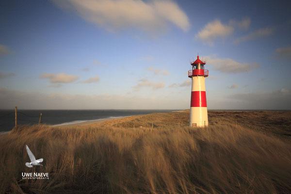 Leuchtturm Insel Sylt Ostellenbogen Lighthouse Island Sylt East Ellenbogen Germany 9496