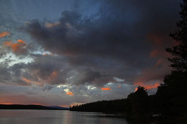 Abendstimmung am Burusjön bei Idre 5835