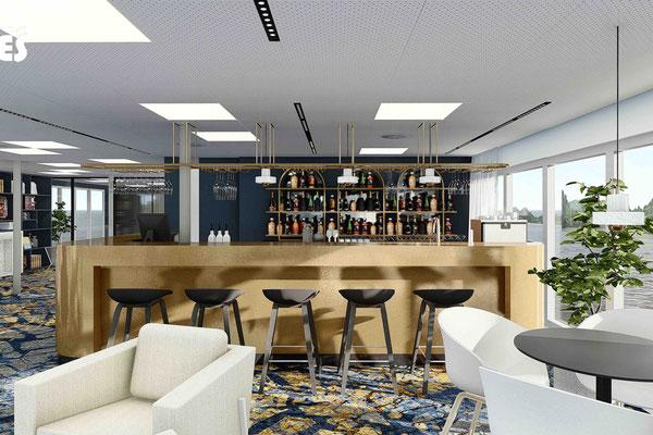 Die Lounge auf der MS Albertina