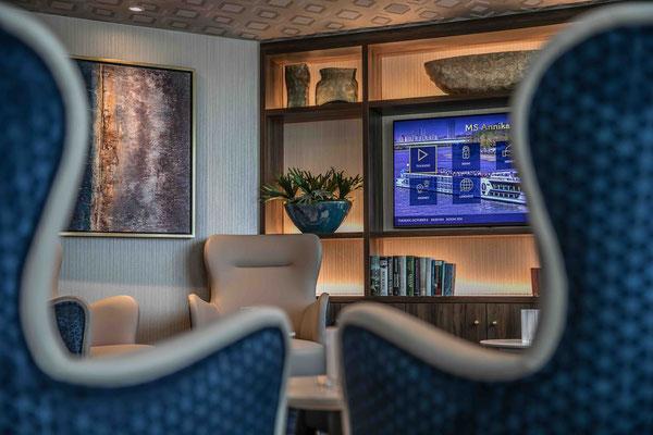 Die gemütliche Lounge der MS Annika