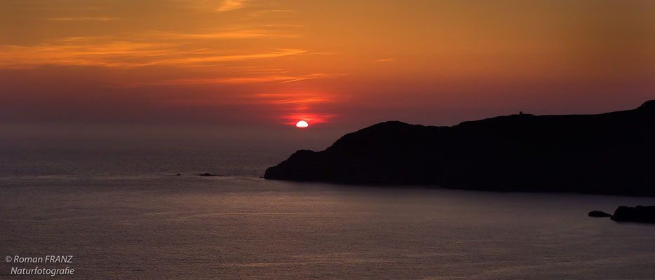 Sonnenuntergang auf der Halbinsel Kerry, Irland
