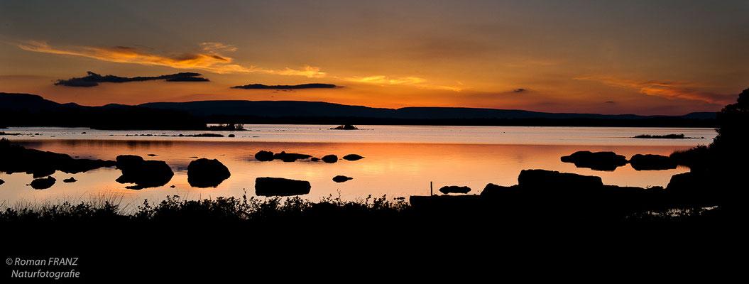 Sonnenuntergang am Lough Corrib,Irland