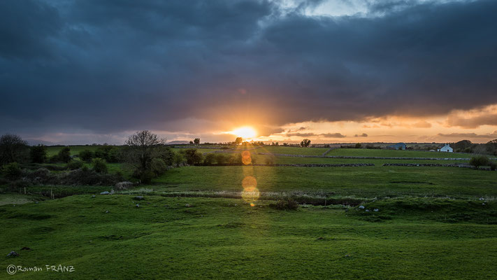sunset by Friary of Ross, Ireland