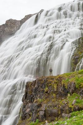 Ich und der Dynjandi Wasserfall, Island