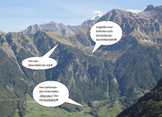Blick vom Klausenpass / Urnerboden Richtung Alp Guetbächi