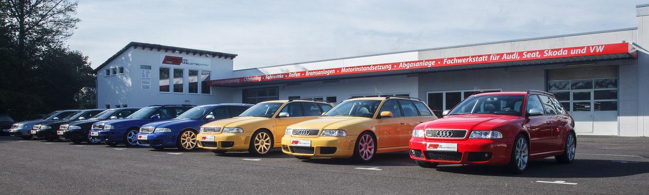 Damm-Fahrzeugtechnik, Autowerkstatt Langenselbold, Chiptuning, Fahrwerktuning, Reifen, Felgen, Tuning, Audi RS4