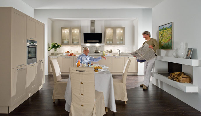 Wir berücksichtigen bei der Küchenplanung auch altersgerechte Anpassungen.