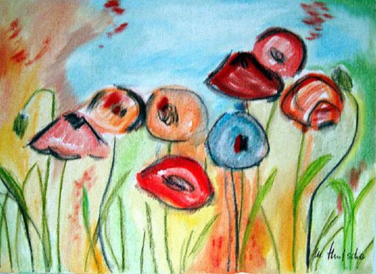 2004  Sonnenblumen 40x30 Öl2005  Wiesenblumen 27x36 Öl