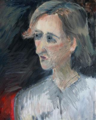 2012 Frauenporträt 30x42 Öl