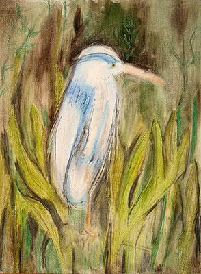 2008 Der blaue Vogel 40x30 Öl